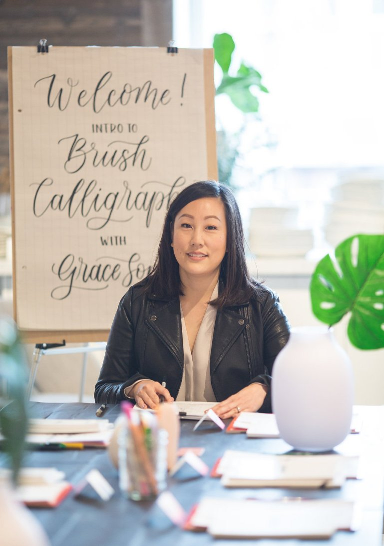 Grace Song calligraphy interview
